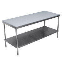Advance Tabco SPT-307 Poly Top Work Table 30 inch x 84 inch with Undershelf