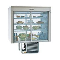 Delfield F5SC48N 48 inch Narrow Depth Drop-In Refrigerated Display Case with See-Through Back - 14.3 Cu. Ft.