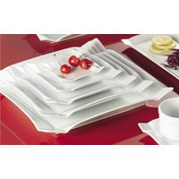 CAC TMS-5 Times Square 4 inch Bright White China Square Plate - 36/Case