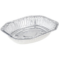 Durable Packaging Oval Foil Roast Pan 18 inch x 14 inch x 3 inch - 50 / Case