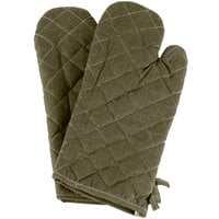 Choice 15 inch Flame-Retardant Oven Mitts - Pair