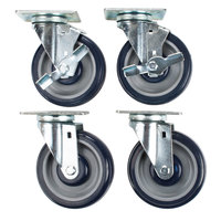 Cooking Performance Group 5 inch Plate Casters - 4 / Set