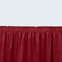National Public Seating SS24-36 Burgundy Shirred Stage Skirt for 24 inch Stage - 23 inch x 36 inch
