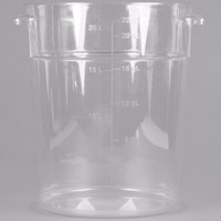 Carlisle 1076907 22 Qt. Clear Round StorPlus Container