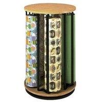 Bulman R1499 Revolving Vertical 5 Roll Oak Suzy Rack - Unassembled