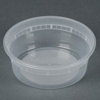 Newspring DELItainer L5008Y 8 oz. Translucent Round Deli Container - 48 / Pack