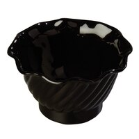5 oz. Black Tulip Dessert Dish - 12/Pack