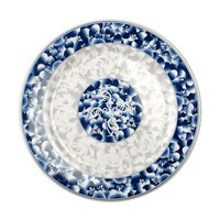 Blue Dragon 6 7/8 inch Round Melamine Plate - 12/Pack