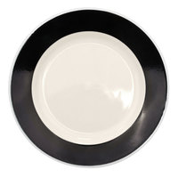 CAC R-5-BLK Rainbow Dinner Plate 5 1/2 inch - Black - 36 / Case