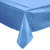 52 inch x 90 inch Blue Vinyl Table Cover with Flannel Back