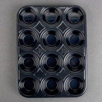 Genpak 55312 Bake N' Show Dual Ovenable 12 Cup Mini Muffin Pan - 500 / Case
