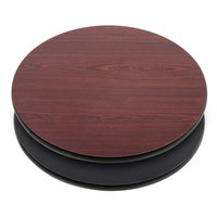 Lancaster Table & Seating 30 inch Laminated Round Table Top Reversible Cherry / Black