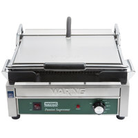 Waring WPG250B 14 1/2 inch x 11 inch Panini Supremo Grooved Top & Bottom Panini Sandwich Grill 208V