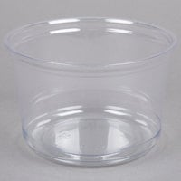 Fabri-Kal Alur RD16 16 oz. Recycled Customizable Clear PET Plastic Round Deli Container 50 / Pack