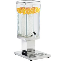 Cal-Mil 1282-3A 3 Gallon Stainless Square Beverage Dispenser - 14 inch x 10 1/2 inch x 26 1/2 inch