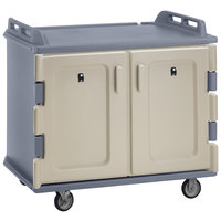 Cambro MDC1418S20191 Granite Gray Meal Delivery Cart 20 Tray