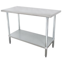 """Advance Tabco SLAG-245-X 24"""" x 60"""" 16 Gauge Stainless Steel Work Table with Stainless Steel Undershelf"""