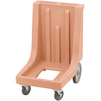 Cambro CD300HB Coffee Beige Camdolly for Cambro Camcarriers and Camtainers with Handle & Rear Easy Wheels