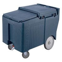 Cambro ICS175LB401 Slate Blue Sliding Lid Portable Ice Bin - 175 lb. Capacity