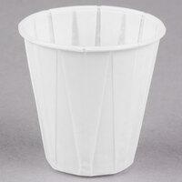 Genpak Harvest W500F 5 oz. White Paper Souffle / Drinking Cup - 2500 / Case
