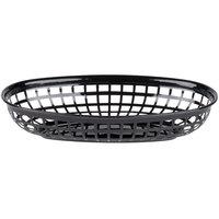 9 1/4 inch x 5 3/4 inch Black Plastic Oval Fast Food Basket - 12/Pack