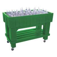 Green Texas Icer 710 Insulated Ice Bin / Merchandiser with Shelf and Drain 48 inch x 24 inch 140 Qt.