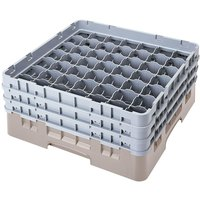 Cambro 49S638184 Beige Camrack 49 Compartment 6 7/8 inch Glass Rack