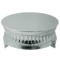 Tabletop Classics AC-9129 16 inch Nickel Plated Round Cake Stand