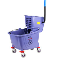 Lavex Janitorial Gray 36 Quart Mop Bucket & Wringer Combo