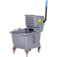 Lavex Janitorial 36 Qt. Gray Mop Bucket & Wringer Combo