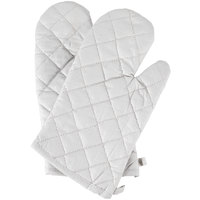 """Choice 13"""" Silicone Cloth Oven / Freezer Mitts - 2/Pack"""