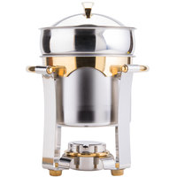 Vollrath 48327 7.4 qt. Panacea Soup Marmite with Gold Accents