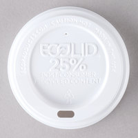 Eco-Products 8 oz. White Recycled Content Hot Paper Cup Lid - 100/Pack