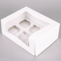 Window Cupcake Box with Insert 9 inch x 7 inch x 3 1/2 inch - 10 / Pack