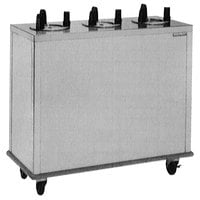 Delfield CAB3-575 Mobile Enclosed Three Stack Dish Dispenser for 5 inch to 5 3/4 inch Dishes