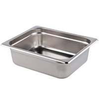 1/2 Size Standard Weight Anti-Jam Stainless Steel Steam Table / Hotel Pan - 2 1/2 inch Deep