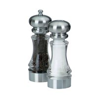 Chef Specialties 96851 7 inch Lehigh Acrylic Pepper Mill / Salt Shaker