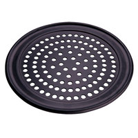 American Metalcraft SPHCTP17 17 inch Super Perforated Hard Coat Anodized Aluminum Wide Rim Pizza Pan