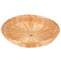 11 inch x 1 1/2 inch Polypropylene Wicker Round Basket
