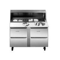 Traulsen UPT6024-DD 60 inch Compact Four Drawer Sandwich Prep Refrigerator