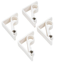 Spring Loaded Adjustable Plastic Tablecloth Clip - 4/Pack