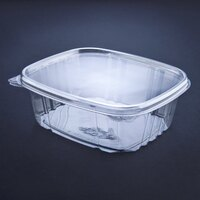 D&W Fine Pack VH48P VersaPak 48 oz. Recyclable Hinged Take Out Deli Container 200 / Case