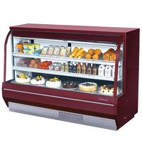 Turbo Air TCDD-72-2-H Red 72 inch Curved Glass Refrigerated Deli Case - 21.4 Cu. Ft.