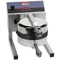 Nemco 7020A-S208 SilverStone Non-Stick Belgian Waffle Maker with Removable Grids - 208V