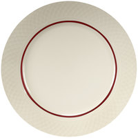 Homer Laughlin Red Jade 12 1/2 inch Off White China Plate - 12/Case