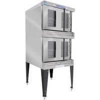 Bakers Pride BPCV-G2 Restaurant Series Natural Gas Bakery Depth Double Deck Full Size Convection Oven - 180,000 BTU