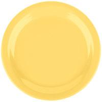 Carlisle 4385222 Honey Yellow Dayton 9 inch Melamine Plate - 48/Case