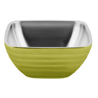 Vollrath 4763530 Double Wall Square Beehive 5.2 Qt. Serving Bowl - Lemon Lime