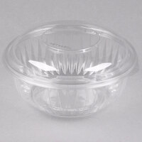 Dart Solo PET32BCD PresentaBowls 32 oz. Clear Plastic Bowl with Dome Lid - 126 / Case