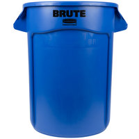 Rubbermaid FG263200BLUE BRUTE 32 Gallon Blue Trash Can